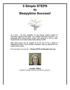 5 STEPS to Sleepytime Success